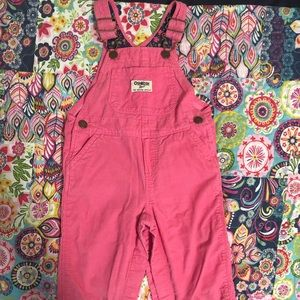 OshKosh B'gosh Pink Cord Overalls GUC Size 12 mons
